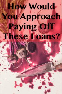 How Would You Approach Paying Off These Loans?